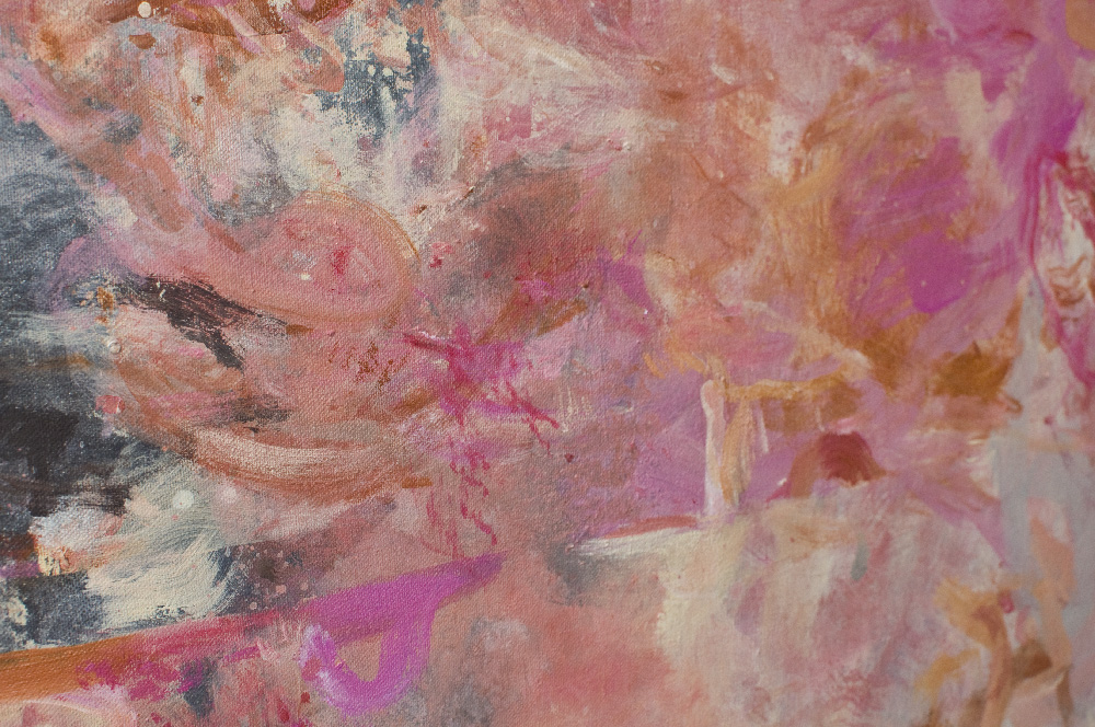 "Wife of Bath series, ""Chaucer's 'Madonna,'"" 48"" x 24"" x ¾"", Acrylic and reflective pigment on canvas, 2012"